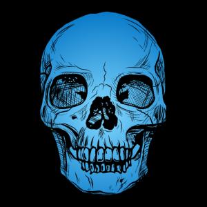 Skull blau
