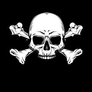 Totenschädel mit Knochen