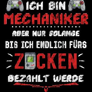 Mechaniker Geschenk Zocken Computerspiele Freund