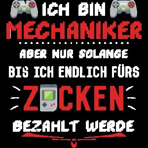 Mechaniker Zocken Freund Computerspiele Geschenk