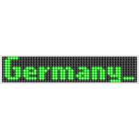 LED Display Germany Green