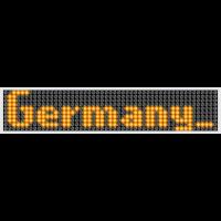 LED Display Germany Orange