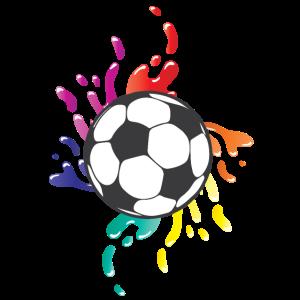 Fußball bunte Farbspritzer