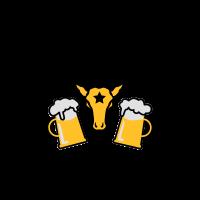 Hirsch mit Beute JGA Mass Bier 3c b