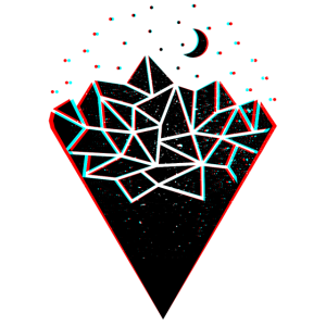 Geometrie Berge Glitch Polygon