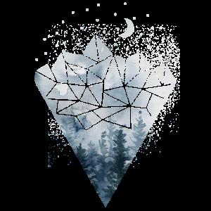 Geometrie Berge Polygon Wald