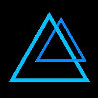 Kraft Pyramiden in blau