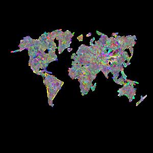 Abstrake Weltkarte