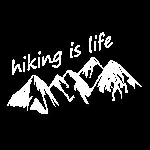 Wandern ist Leben - hiking is life weiss 01