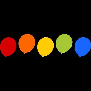 Luftballon bunt