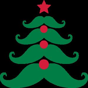 Christmas Tree Mustache