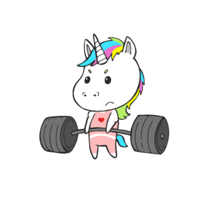 Einhorn Trainings Team Frauen Workout Gym Fitness