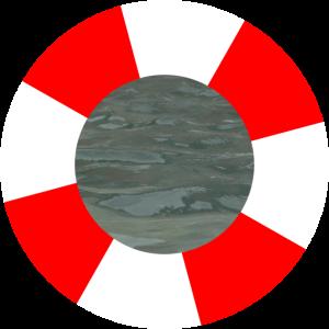 Rettungsring mit Meer