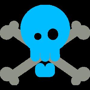 Totenkopf Pastell Blau