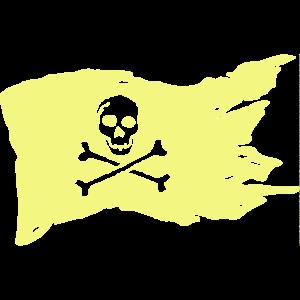 Piratenflagge Pastell Gelb
