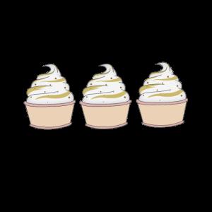 Eiskrem im Becher