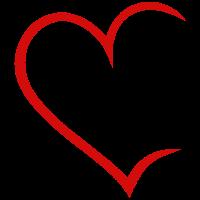 Herz offen rot Liebe Heart Love Paare Verliebt
