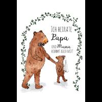 Kleine Bärenhochzeit Familie Papa Poster