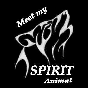 Meet my spirit animal - Wolf - Esoterik Geschenk