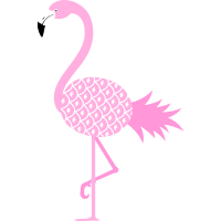Pineapple Flamingo Illustration