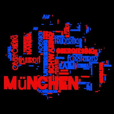 München in Wörtern - München in Wörtern - wörter,revier,region,stadt,oberbayern,zuhause,bayern,München,heimat,wordcloud,city,lederhose,stadtteil,biergarten