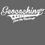 Geocaching - Face the Challenge (grau)