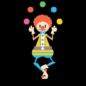 Jonglieren Jongleur Clown Zirkus Geschenk Comic