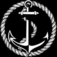 65 Anker Seil schwarz-weiss