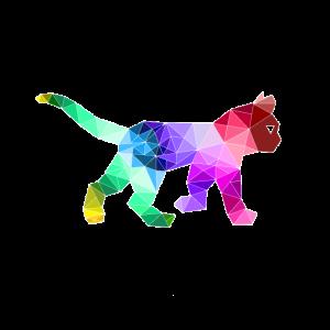 Polygon Katze Bunt