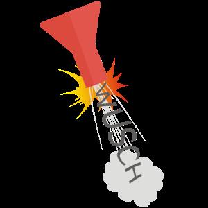 Erlenmeyerkolben mit Antrieb - WUSCH und weg