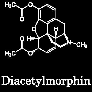 Diacetylmorphin Heroin Strukturformel Chemie Droge