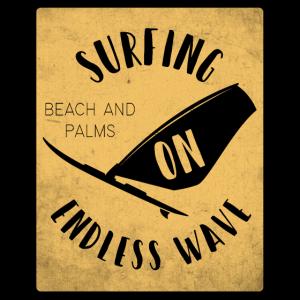Surfen Strand Palmen Wellen
