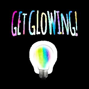 Get Glowing - Kreativitaet bunt regenbogen