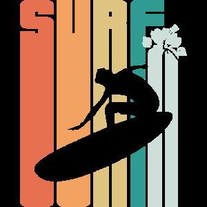 Surfing Surf Surfer Geschenk Retro Vintage Strand