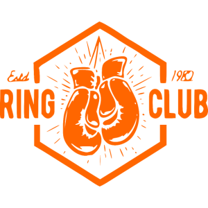 Ring Club mit Boxhandschuhe- orange Boxer Fighter