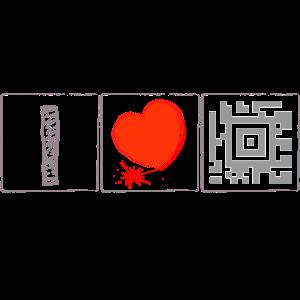 Barcode - I Love Diving - - QR Code- Scannen