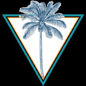 Palme am Strand Meer Geschenk Sommer
