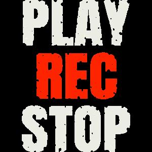 Play Rec Stop - Music Shirt