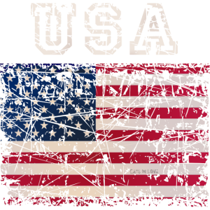 USA Letters with Flag - dark shirts edition