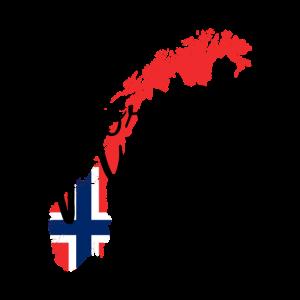 Norwegen Norway Norge - Flagge Land - Geschenkidee