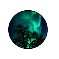 Polarlichter T Shirt Geschenk Magnetpole Elektron