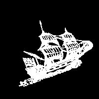 Weisses Holzschiff auf dem Meer T Shirt Geschenk