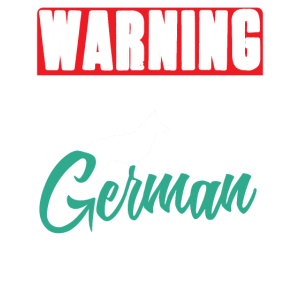 Warnung geschützt durch einen Schäferhund