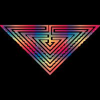 dreieck labyrinth geometrisch