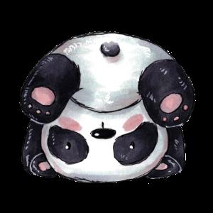 Sportlicher Comic Panda