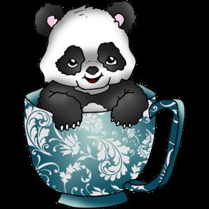Pandabär in der Tasse Teddybär Panda