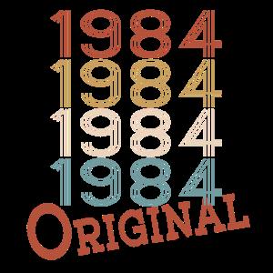 Original aus 1984 Geburtstag Geburtsjahr Geschenk