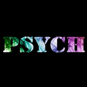 Psychedelisch Rauch Schrift