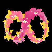 Unendlichkeits Symbol mit Blumen
