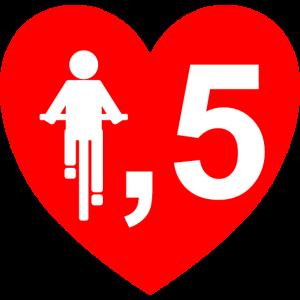 Radfahrer Herz 1,5 METER ABSTAND
